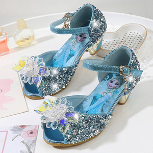 Girls Sandals Princess Shoes Elegant Dance Party Wedding Shoes cosplay High heels