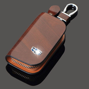 Wholesale Leather Car Key Cover Key Case for Opel Volkswagen honda civic Kia ford focus audi a4 peugeot mercedes skoda mazda bmw key bags