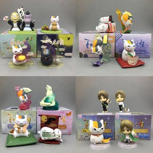 Wholesale 6pc set Japan Anime Natsume Toys Cat Teacher Home Car Display Doll Decoration Doll Machine Lucky Egg Blind Box Gift Package For Kids HWJ09