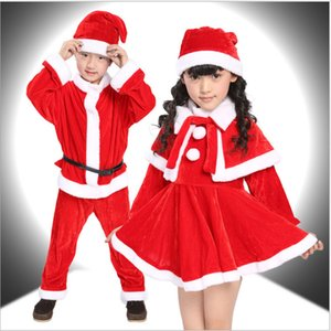 Christmas Baby Santa Claus Costume Kids Cosplay Costumes Promotion Boys Clothes Winter Stagewear Toddler Girls Cute Infant Baby Winter Dress