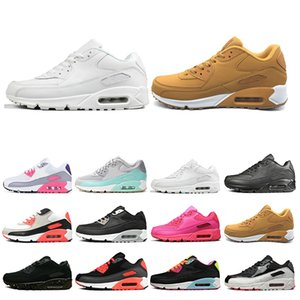 Wholesale Triple White Black Yellow Mens womens Running Shoes Grey Pink green Mens Trainers Cushion Surface Breathable Sports Sneakers size
