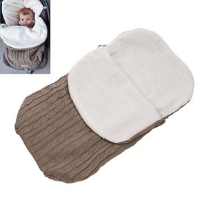 Wholesale Newborn Sleeping Bag Baby Warm Swaddling Blanket Infant Stroller Sleepsack Footmuff Thick Baby Swaddle Wrap Knit Envelope BH0626 TQQ