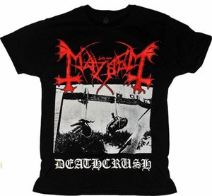 Wholesale T Shirt Mayhem Deathcrush Different Size A Metal Nation New Cotton Letter Printed T Shirts Top Tee Plus Size