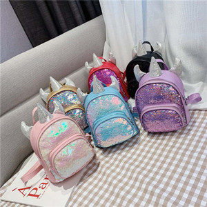 Kids Backpack Children and girls unicorns color-changing sequins School bag Personality backpacks Children's love gifts