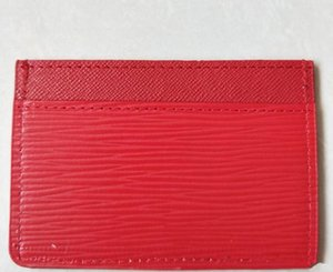 Wholesale New Card Holders classic red black Card ID holder high quality leather for men women little bags wallet Coin Purses free shopping