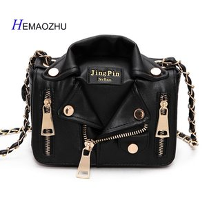 HEMAOZHU 2018 The New European Locomotive Style Street Punk Small Chain Bag Shoulder PU Leather Clothes Style Hand bags #125832
