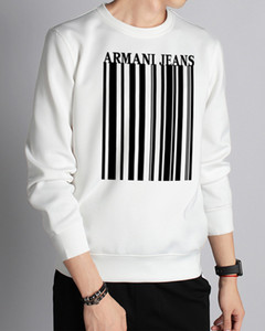 Wholesale Hoodie series letter pullover sweater Street Sport Mens Hoodies Loose armani Fit Pullover Sweatshirt For Sale