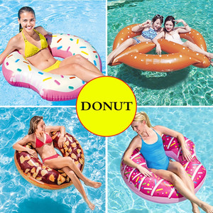 Wholesale Inflatable cm Inflatable Donut Swimming Ring Giant Pool Float Toys Circle Beach Sea Party Inflatable Ride on Mattress Adult Boia Piscina