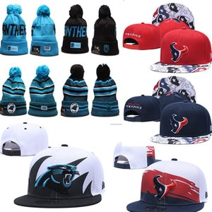 Wholesale 2019 Carolina Winter beanies Texan Hats Bill Snapback Stitched sports Team Logo Brand Warm Men Women Panther Knitted warm out door Caps