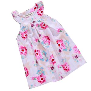 Wholesale Girl Skirt Baby Love Pattern Printing Dresses Four Colors Dress Without Sleeve Skirt Suit Polyester Cartoon