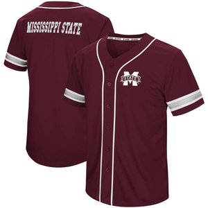 Wholesale Men Mississippi State Bulldogs Colosseum Play Ball Baseball Jersey Stitch Sewn All Stitched High Quality Jerseys
