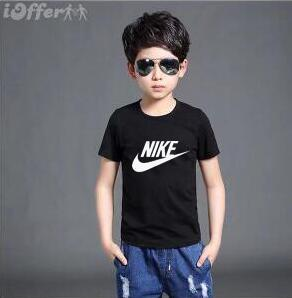 Wholesale 2019 Fashion Kids Girl years t Shirt Children Short sleeves T shirt Boys Tops Clothing Brands Solid Tees Girls Cotton shirts VODFK202ER