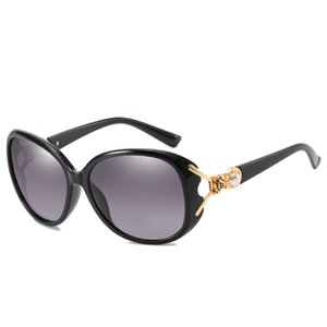 Wholesale fox sunglasses for sale - Group buy 2019 High end ladies sunglasses brand designer ladies metal pearl frame sunglasses fox head design beach protective sunglasses UV400 female