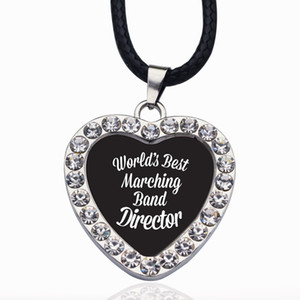 Wholesale World s Best Marching Band Director Circle Charm Necklaces Pendants Victorian Style