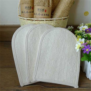 Wholesale 1 Pieces Bath Gloves Colors Natural Loofah Bathroom Shower Mitt Body Brushes Unisex cm Best Selling yj E1