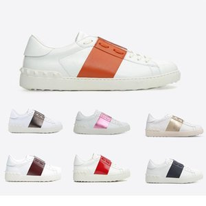 Wholesale Women Men Luxury Weaving Leather Patchwork Trendy Shoes Rivets Flats Shoes Studded Sports Skateboarding Tennis Comfort Casual Shoes