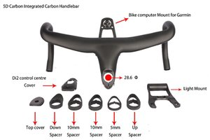 Wholesale Newest D full Carbon Integrated Drop Bar Road Bicycle Handlebar mm UD Weave With Bike Computer Mount