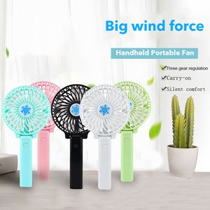 Car Mini Fan Portable USB Battery Fan Ventilation Foldable Air Conditioning Fans Foldable Cooler Operated Hand Held Cooling