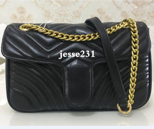 Wholesale gold crossbody purse for sale - Group buy Top Quality colors Women Shoulder bag gold and silver chain bag Crossbody Pure color handbag crossbody Messenger tote bag purse wallet