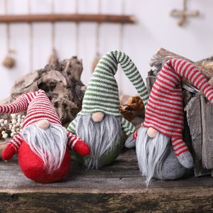 Wholesale 1Pcs Santa Claus Snowman Christmas Ornaments Faceless Doll Gnome Plush Doll Favor Party Decoration for Home New Year Gift