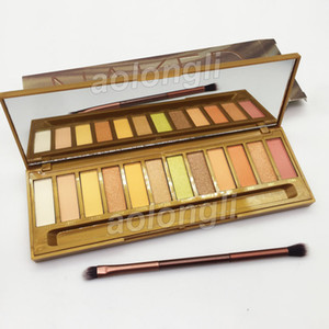 Wholesale honey gold for sale - Group buy Makeup Honey Eyeshadow Palette with Brush Nk Colors Eye Shadow Matte Shimmer nude Eye Shadow Palette Heat Famous Gold Eyeshadow