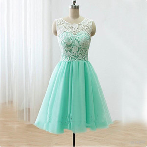 Wholesale Short Mint Green Homecoming Dresses Real Pictures Knee Length Back to School Black Girls Cute th Grade Graduation Party Dresses
