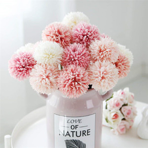 Wholesale Artificial Flowers Simulation Dandelion Fake Flowers Silk Plastic Artificial Hydrangea Bridal Wedding Bouquet for Home Garden Party