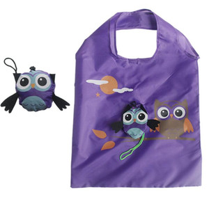 Wholesale owl shaped bags resale online - 20pcs Shopping Bags Cute Women Animal Owl Shaped Folding Shopping Bag Eco Friendly Reusable Tote Bag