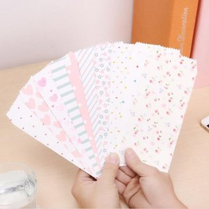 Wholesale Cute Colorful Paper Envelopes Dots Heart Flower Patterns Paper Envelopes Colorful Party Gift Bag for Party Cards Decor QW9363