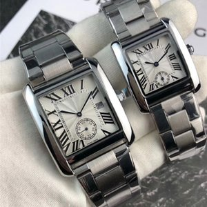 Wholesale Lovers Luxury hot Couple Men Women Watches Top Brand Quartz movement small dial works Roman Numerals Dial Wristwatches Best Valentine Gift