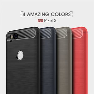 Wholesale pixel 3a case for sale - Group buy For Google Pixel a XL Rugged Armor Shockproof Case Slim Brushed Line Carbon Fiber Textured Silicone TPU Cover