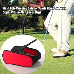 Wholesale golf travel bags for sale - Group buy Camping Foldable Zipper Closure Home Wear Resistant Dustproof Storage Travel Durable Golf Shoes Bags Outdoor Sports Mesh Hole