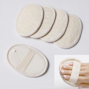 Wholesale spa for massage for sale - Group buy Natural Exfoliating Loofah Pad For Body Loofah Scrubber Strap Bath Skin Shower Loofah Sponge Cleaning Brush Massage Spa Remove The Dead Skin