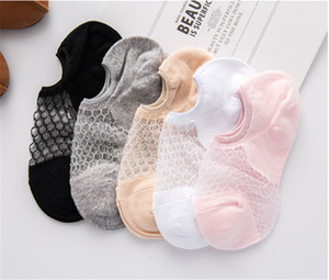 Wholesale Net Boat Socks Japanese Crystal Transparent Boat Socks Short Tube Women s Socks Summer Thin Super Invisible Shallow Mouth Korean Sock