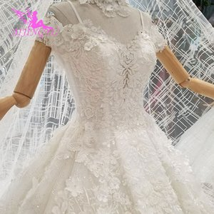 wholesale Ivory Wedding Dress Modern Gowns With China Free Shipping Muslim Women 2019 Luxury Lace Wedding Couture