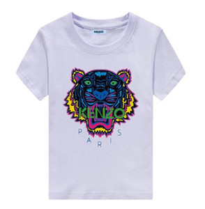Free Shipping KENZO Children's Baby Boys Girls Clothing Tiger Head Tops Short Sleeve Cotton T-Shirt Casual Summer T-Shirt Clothes
