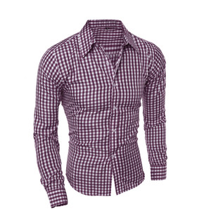Men Shirts Long Sleeve Cotton Business Casual Shirt Men Long Sleeved High Quality Fashion 1316WP on Sale