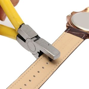 Universal 2mm Round Leather Belt Watch Band Hole Puncher Plier Jewelry