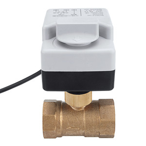 Wholesale motorized ball valve resale online - AC V quot quot quot quot Motorized Electric Brass Ball Valves Way Wires Full Port Valve