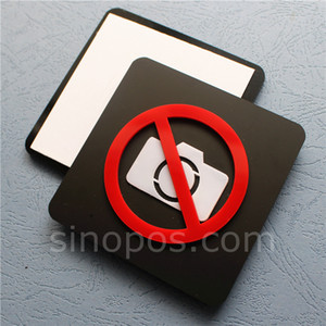 Wholesale Adhesive Acrylic No Photography Sign plastic non video photo pet permitted door signage wall window camera free warning sticker