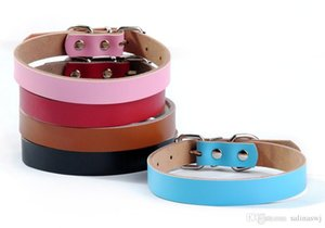 Wholesale Personalized leather dog collar for custom dog collar with pet name and phone number