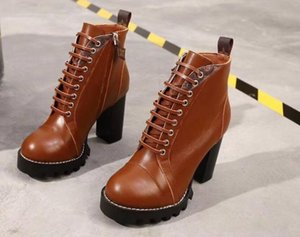[Original box] z2 new sexy women's high heel boots winter winter leather pump Paris boots size 35-41 on Sale