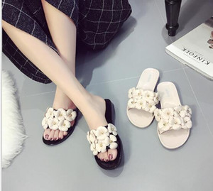 summer women's Beach shoes floral slippers girl's flip flops flowers slippers pvc sandals Camellia Jelly Shoes