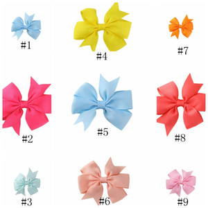 Wholesale Baby Girls Hair Rope Hairbands Kids Elastic Bows hair bands Rope Bowknot Headdress Headwear Children Hair Accessories EEA372