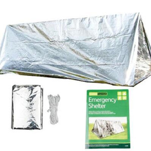 Wholesale x150x90cm Emergency Tent Disposable Camping Emergency Shelter Insulation Shack Shelter PET Survival Tube Tent Outdoor Pads