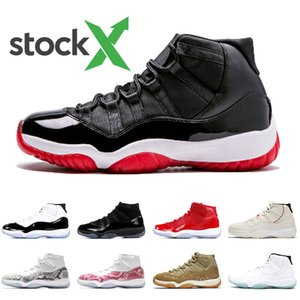 Wholesale Newest Bred s Stock x Air Jordan Retro shoes Women mens basketball shoes Cap and Gown Concord Snakeskin Trainers sneakers