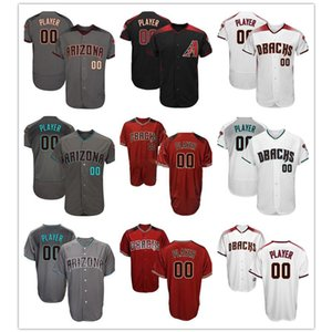 Arizona Custom Diamondbacks Mens Majestic Cool Base and Flex base High quality Baseball Jersey,Please message name and number on Sale