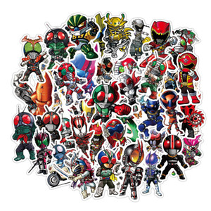 50 PCS Kamen Rider anime waterproof stickers for Skateboard Suitcase Guitar Luggage Laptop Sticker