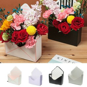 Wholesale 6 Style Romantic Envelope Flower Paper Holder Box for Valentine s Day Gift Birthday Party Bouquet Florist Pack Supply Gift Bags