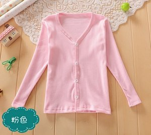 Spring Summer Jacket Candy-colored Girl Cardigan Sweaters Kid Boys Girls Clothes Children Outwear Kids Girl Sweater Coat on Sale